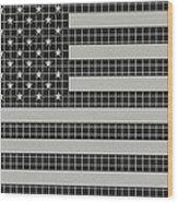 Metal Mesh Usa Flag Wood Print