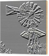 Metal Print Of Old Windmill In Gray Color 3009.03 Wood Print