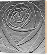 Metal Rose Wood Print