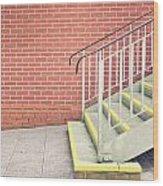 Metal Stairs Wood Print