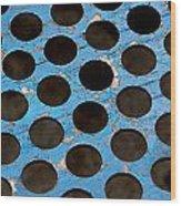 Metal Texture Round Wood Print