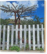 Metal Art Tree Bisbee Wood Print
