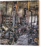 Metal Worker - Belts And Pullies Wood Print