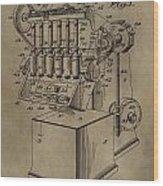 Metal Working Machine Patent Wood Print