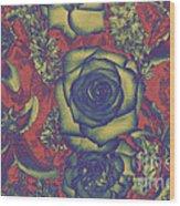 Metalic Rose Wood Print