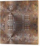 Metallic Pattern Wood Print