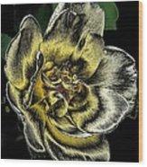 Metallic Rose Wood Print