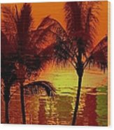 Metallic Sunset Wood Print