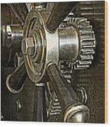 Metals Bank Door Wood Print