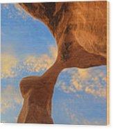 Metate Arch Sunset Wood Print