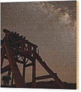 Meteor At Bodie Wood Print