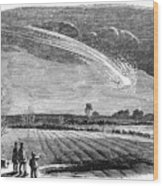 Meteor Observation Wood Print