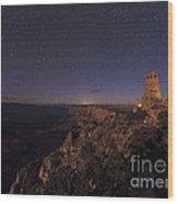 Meteor Over Grand Canyon, Usa Wood Print