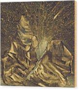 Meteor Shower Wood Print
