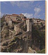 Meteora Monastary   #9793 Wood Print