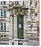 Meteorological Pole Zrinjevac Zagreb Wood Print