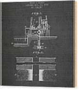Method Of Drilling Wells Patent From 1906 - Dark Wood Print