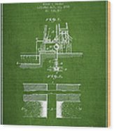 Method Of Drilling Wells Patent From 1906 - Green Wood Print