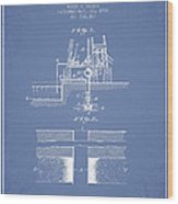 Method Of Drilling Wells Patent From 1906 - Light Blue Wood Print