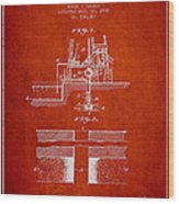 Method Of Drilling Wells Patent From 1906 - Red Wood Print