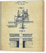 Method Of Drilling Wells Patent From 1906 - Vintage Wood Print