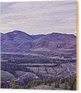 Methow River Valley Via Sun Mtn Lodge Wood Print by Omaste Witkowski