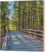 Methow Valley Community Trail At Wolf Creek Bridge Wood Print by Omaste Witkowski