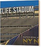 Metlife Stadium Super Bowl Xlviii Ny Nj Wood Print