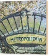 Metro Abbesses Wood Print