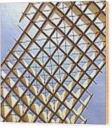 Metropol From Below Wood Print