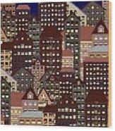 Metropolis Seven Wood Print