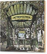 Metropolitain Entrance Paris Wood Print