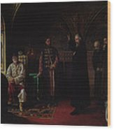 Metropolitan Philip Of Moscow 1507-90 With Tsar Ivan The Terrible 1530-84 Oil On Canvas Wood Print
