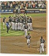 Mets Take Nl 2006 Wood Print