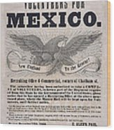 Mexican American War Flyer Wood Print