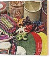 Mexican Basketry Wood Print
