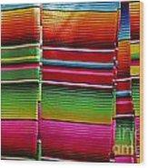 Mexican Blankets Cancun Wood Print