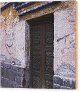 Mexican Door 34 Wood Print