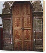 Mexican Door 56 Wood Print