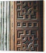 Mexican Door 64 Wood Print