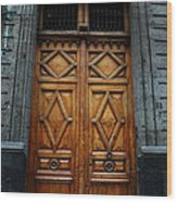 Mexican Door 68 Wood Print