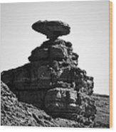 Mexican Hat Rock Wood Print