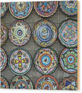 Mexican Plates Wood Print