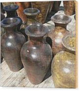 Mexican Pots II Wood Print