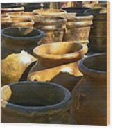 Mexican Pots Iv Wood Print