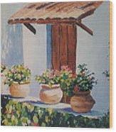 Mexican Pots Wood Print