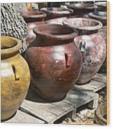 Mexican Pots V Wood Print