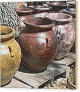 Mexican Pots V Wood Print