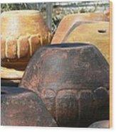 Mexican Pots VI Wood Print