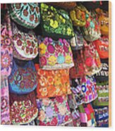 Mexican Purses Wood Print